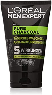L'Oréal Paris 巴黎欧莱雅 男士专家 纯木炭洗面奶,针对性清洁男士皮肤(痘痘,黑头,皮肤油腻),1 x 1