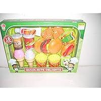Lollipop Toys Gourmet Play Quick bite Delights 漢堡、蘇打、薯條、冰淇淋 18 件