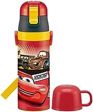 SKATER 儿童用 2WAY 不锈钢 水瓶 带杯盖 赛车总动员 19 迪士尼 430ml SKDC4