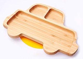 Bamboo Baby 幼儿吸盘,Stay Put 喂食餐盘 黄色