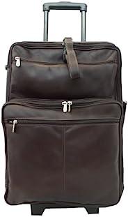 Piel Leather 22 Inch Wheeled Traveler 巧克力 15 x 22 x 8