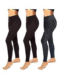 女式高腰打底裤 1 条装 – 瑜伽裤收腹*紧身裤锻炼跑步提臀紧身裤