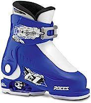 Roces Idea Up 可调节儿童滑雪靴 - 16-18 / 蓝色-白色
