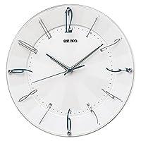 SEIKO 精工 时钟 挂钟 电波 模拟 白 珍珠 KX214W SEIKO