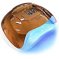 UV LED 美甲灯 – 128W 快速固化凝胶*干燥器适用于美甲和修脚 – 双电压带超长电线,多语言手册 – 专业凝胶灯 适用于家庭或沙龙,OVLUX 出品