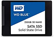 Western Digital Blue 3D NAND 250GB PC 固态硬盘 - SATA III 6 Gb / s,2.5英寸/ 7毫米 - WDS250G2B0A