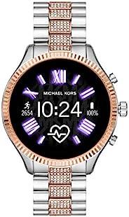 Michael Kors 迈克·科尔斯 * 5 代 Lexington 连接智能手表 带 Wear OS by Google 和扬声器、GPS、心率和智能手机通知