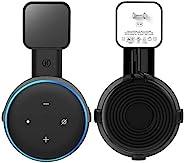Echo Dot 壁挂支架/支架插座支架(* 3 代)智能/家庭扬声器内置电缆管理,不会隐藏凌乱的电线或螺丝(黑色,1 件装)