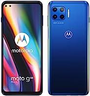 "Motorola 摩托罗拉 g 5G plus(5G、6.7"" FHD+、高通骁龙 SD765,48MP 四摄像头系统,5000 毫安电池,双 SIM 卡,6/128GB,Android 10),冲浪蓝(亚马"