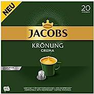 Jacobs 加冕 Crema 咖啡胶囊,200 个 Nespresso 兼容胶囊,10 粒,10 x 20 杯饮料,1040 克