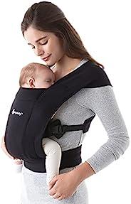 Ergobaby Embrace 舒适的新生婴儿包裹袋,7-25磅(约3.18-11.34千克),纯黑色