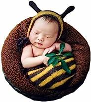 新生儿每月婴儿摄影道具服装男孩女孩蜜蜂睡袋照片拍摄服装