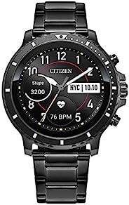 Citizen Citizen CZ Smart HR Heart Rate Smartwatch 46mm Gray IP Stainless Steel bracelet Watch, Powered by Goog