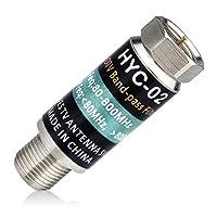 4G过滤器,电视天线LTE滤波器 - 电视信号净化器,LTE滤镜可去除所有噪音,减少来自电池塔的干扰。