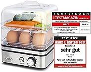 CASO ED10 – 煮蛋器 & 蒸鍋,煎魚、蔬菜、土豆等設計,電動烹飪時間調節,不銹鋼設計,適合多達 8 個雞蛋,