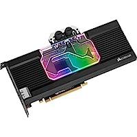 CORSAIR 海盗船 Hydro X系列,XG7 RGB 20系列GPU水块,适用于 NVIDIA GeForce Founders Edition(精密构造,铝背板,流指示器,可定制RGB 照明)黑色CX-9020009-WW RTX 2080 SUPER