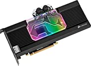 CORSAIR 海盗船 Hydro X系列,XG7 RGB 20系列GPU水块,适用于 NVIDIA GeForce Founders Edition(精密构造,铝背板,流指示器,可定制RGB 照明)黑色CX-90200