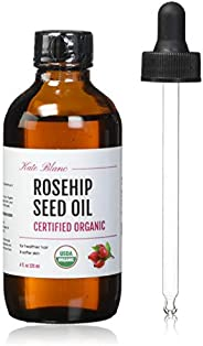 Rosehip Oil by Kate Blanc. USDA Certified Organic, 100% Pure, Cold Pressed, Unrefined. Essential Oil for Face,