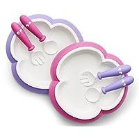 BABYBJORN 餐盘餐匙套装 粉红色/紫色
