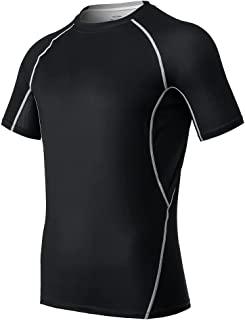 Catena 男式短袖 T 恤运动压缩衬衫健身房锻炼跑步 T 恤速干吸湿排汗衫