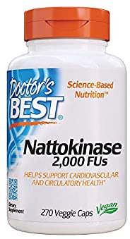 Doctor's Best 纳豆激酶素食胶囊,Non-GMO,素食主义,无麸质,