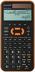 Sharp 夏普 ELW531XG-YR 科学学生计算器 ( 4行显示 335 功能 , D.A.L.输入) 橙色 / 黑色
