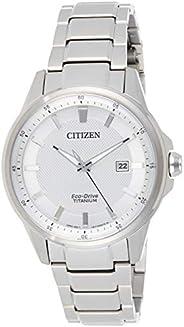 CITIZEN 男式 aw1490–50A 光动能 TI + IP 钛合金手表