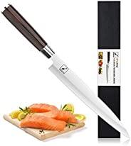 Yanagiba 刀 - imarku 10 英寸(約 25.4 厘米)壽司生魚片廚房刀 高碳鋼 5cr15mov - 人體工程學 Pakkawood 手柄(廚師刀)
