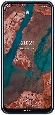 Nokia X20 5G 智能手机,双SIM,RAM 8GB,ROM 128GB,64000万像素四摄像头,水标志功能,6.67英寸全高清+显示屏,耐用设计,2天电池续航时间和纯Android 11 - 北欧蓝