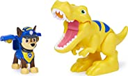 Paw Patrol 狗狗巡逻队 恐龙救援队 Chase 和 Dinosaur 可动公仔套装 适合 3 岁及以上儿童