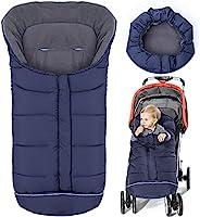 保暖睡袋通用,婴儿车睡袋,寒冷天气,防水幼儿脚套(*蓝,大号)