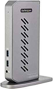 USB-C USB-A 扩展坞 - 混合通用 USB 3.0 扩展坞,适用于 USB-C 或 USB-A 笔记本电脑 - 双显示器 4K 60Hz HDMI / DisplayPort - 6X USB-A, GbE -