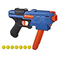 NERF Rival Finisher XX-700 玩具枪 -- 快装弹匣,弹簧行动,包括 7 个官方 Rival 轮 -- 蓝队