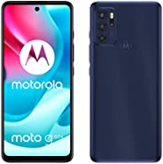 Motorola 摩托罗拉 Moto g60s(6.8 英寸全高清+显示屏,64 MP摄像头,6/128 GB,5000 mAh,Android 11),深蓝色,包括保护套 + 电视新优惠券[亚马逊*]