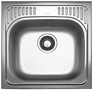 Pyramis ET34 105054501 亚麻外观 1 个不锈钢水槽