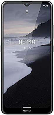 Nokia 诺基亚 2.4 Android 10 解锁智能手机带 2/32 GB 内存,6.5 英寸高清+屏幕,2 天电池寿命,指纹传感器和 Google Assistant,木炭色(AT&T/T-Mobile/