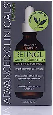 Advanced Clinicals 男士浓缩视黄醇抗皱精华液,保湿视黄醇精华,改善肌肤柔滑,1.75 盎司