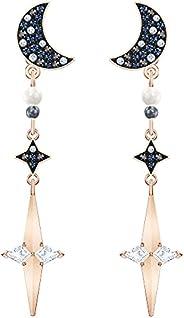 SWAROVSKI 女式符号项链,耳环,手链月亮黑白水晶珠宝系列