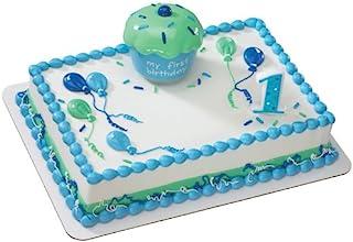 蓝色纸杯蛋糕纪念装饰套装 蛋糕装饰