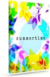 "Kess InHouse Sreetama Ray ""Seasons Summer""彩虹叶户外帆布墙艺术 16"" x 20"" SR1011AAC03"