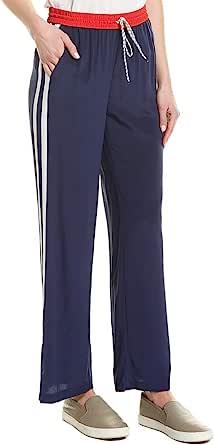 Joie 女式橄榄色条纹宽腿丝质长裤
