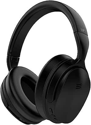 Monoprice BT-300ANC 无线头戴式耳机 - 黑色带(ANC)主动降噪功能 蓝牙 延长播放时间