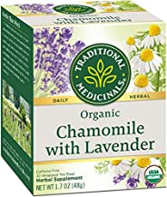 Traditional Medicinals Organic Chamomile with Lavender Herbal Tea, 32 Tea Bags (Pack of 3)