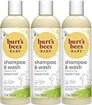 Burt's Bees Baby 洗发水&沐浴露, 不含香料 & 无泪配方婴儿香皂 - 每瓶12 盎司(