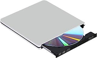 External Blu Ray DVD 驱动器 3D,USB 3.0 便携式蓝光 BD CD DVD 驱动器播放器刻录机高速书写器读卡器磁盘,适用于 Mac OS,Windows xp/7/8/10,笔记本电脑