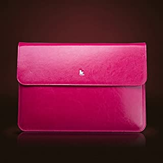 "Jisoncase Genuine 皮革 壳 for MacBook Air 11.6"" 玫瑰红 JS-AIR-02Z33"