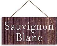 MAIYUAN Sauvignon Blanc 酒牌,做旧木质风格,15.24 x 30.48 托斯卡纳装饰,酒吧标牌,乡村风格标牌(KH2535)
