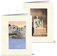 Vintage See America - 36 Note Cards - 12 Designs - Blank Cards - Off-White Ivory Envelopes Included