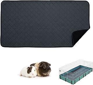 RIOUSSI 豚鼠羊毛笼衬垫,高吸水性可水洗豚鼠床上用品适用于中西部和 C&C 豚鼠笼,带防漏底部。适用于中西部、深灰色。