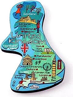 United Kingdom Decowood 特大木冰箱磁贴